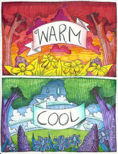 This is a great reference to post when doing an assignment that requires students to use only warm or cool colors. Get the coloring sheet companion here...https://www.teacherspayteachers.com/Product/Warm-and-cool-color-sheet-2955997