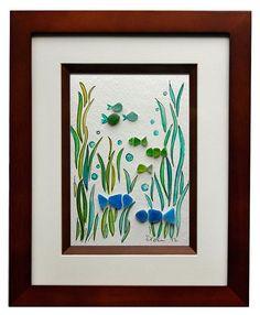 sea+glass+art | sea glass fish art