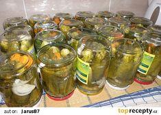 Okurky velmi dobré recept - TopRecepty.cz Korn, Pickles, Cucumber, Mason Jars, Canning, Author, Mason Jar, Pickle, Home Canning