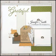 Fall is one of my favorite seasons, the colors are stunning and it is just plain beautiful. I feel that this paper from Close to my Heart. Scrapbook Sketches, Scrapbook Page Layouts, Scrapbook Cards, Scrapbooking Ideas, Book Layouts, Scrapbook Generation, Halloween Scrapbook, Card Making Kits, Fall For You