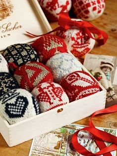 Nordic Knitted Ornaments