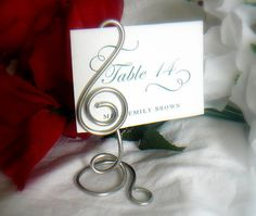 Music Note Wedding Place Card Holders 10 by HomesAndWeddings, $80.00