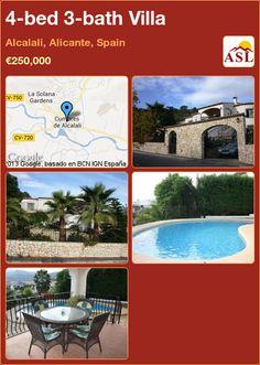 4-bed 3-bath Villa in Alcalali, Alicante, Spain ►€250,000 #PropertyForSaleInSpain