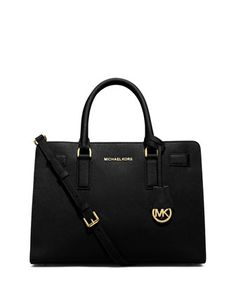 Dillon East-West Saffiano Satchel Bag, Black by MICHAEL Michael Kors at Neiman Marcus.