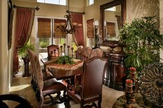 Old World Tuscan or Mediterranean decor. From Decor Accents Inc @ Stunning Expressions. Old World Decorating, Tuscan Style Decorating, Decorating Ideas, Decor Ideas, Wall Ideas, Tuscan Style Homes, Tuscan House, Layout Design, Design Ideas