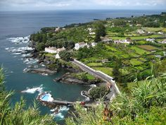 Caloura in Sao Miguel Island, Azores, Portugal (by jaredmedeiros). The pool from the bottom-left is amazing!
