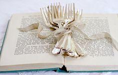 vintage art deco dessert forks set of 12 #vintage #silver #art deco