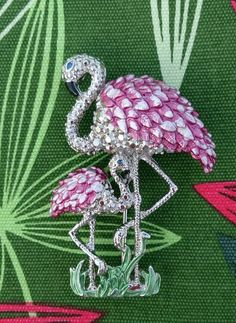 Pretty Flamingo Brooch  £10 + £1 towards UK p&p https://www.facebook.com/groups/1608836792702053/