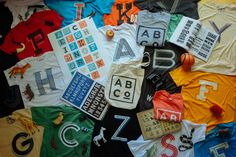 Alphabet Collective: alphabet inspired tees and prints. Every letter.