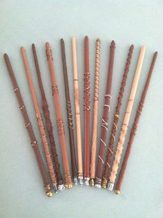 Harry Potter Wands set of 8 by JCustomWoodBurning on Etsy, $28.00