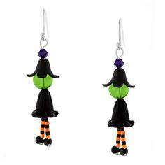 beaded jewelry Witchy Ways Earrings Inspiration Project - RETIRED* - Halloween Schmuck, Halloween Beads, Halloween Earrings, Halloween Jewelry, Christmas Jewelry, Halloween Parties, Christmas Earrings, Halloween Fashion, Christmas Elf