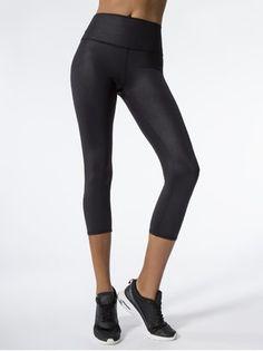 d6831035259761 ALO YOGA High-Waist Airbrush Capri Black Glossy CAPRIS Workout Leggings,  Workout Pants,