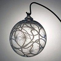 Boule de Noël en cristal signé Lehrer