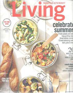 Martha Stewart Living Magazine June 2016 Food Issue Celebrate Summer Revamping #Doesnotapply