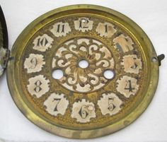 ANTIQUE-MANTEL-CLOCK-DIAL-BEZEL-PARTS-REPAIR