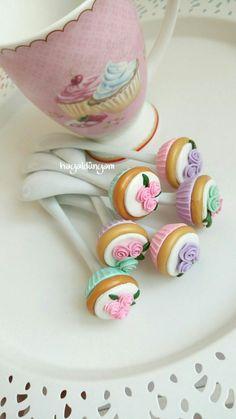 Polymerclay cupcake spoons,polimerkil cupcakeli kaşıklar,handmade,hediye,elyapimi,