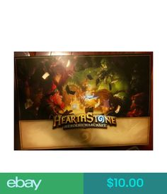 Video Game Merchandise Ships Flat Blizzcon 2013 Hearthstone Poster Like Warcraft Card Game Blizzard #ebay #Electronics