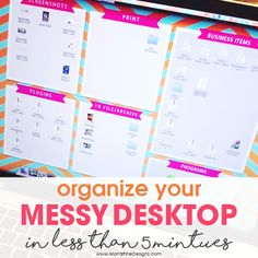 Suffer from a messy computer desktop? Try this desktop organizer to clean up your computer desktop. Quick and easy computer organization!