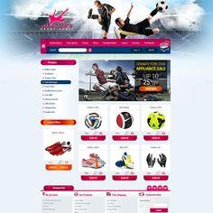 Sport website designing services.
