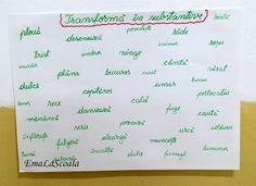 Maratonul substantivelor Romanian Language, Bullet Journal, How To Plan, Romans
