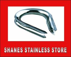 Stainless Steel Thimble:Quality stainless steel fitting used in forming loop to swage wire. Stainless Steel Fittings, Stainless Steel Wire, Handrail Brackets, Thimble, Diy, Projects, Log Projects, Blue Prints, Bricolage