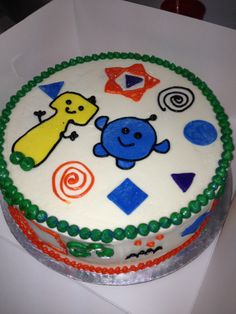 Peek A Boo Monster cake