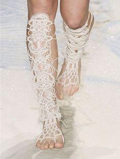 macrame / crochet sandals