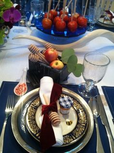 Rosh Hashanah Table Setting - The Jewish Hostess