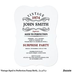 Excellent funny birthday invitation wording for adults to design vintage aged to perfection funny birthday invite filmwisefo Image collections