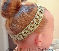 Simple Flower Headband by MySweetPotato3 | Crocheting Pattern - Looking for your next project? You're going to love Simple Flower Headband by designer MySweetPotato3. - via @Craftsy