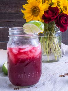 Roasted Blackberry and Basil Margaritas