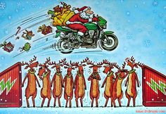 Biker Santa Stuntman