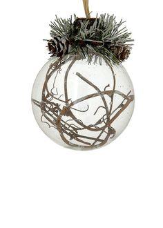 Xmas white ball. Διακοσμητική μπάλα Χριστουγέννων, 8 cm (L155117) Christmas ornaments