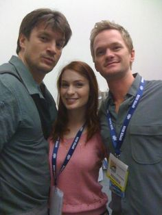 Neil Patrick Harris, Nathan Fillion and Felicia Day from Dr. Horrible's Sing-Along Blog! Dr. Horrible is one of my all-time favorite things to watch. ;D
