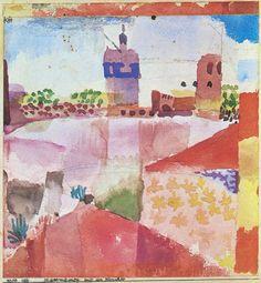 Paul Klee - Hammamet mit der Moschee (1914)