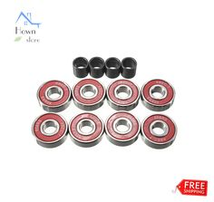 Ball Bearing Groove Tube Carbon Steel ABEC 7 Oiled Skateboard Wheels Red 8pcs    eBay