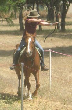 Sharon Robb-Chism...practicing at home on my mare, Delight. Back in 2012