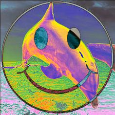 #seapunk Sea Punk Smiley Face 90s Rave Dolphin