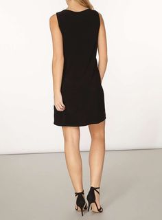 Womens **Billie & Blossom Black And Nude Lace Shift Dress- Black