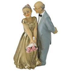 Figurine-Couple-Marie-depuis-50-ans-Anniversaire-de-Mariage-Noces-dOr-11-cm
