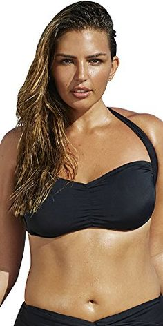 07f68c32f8e Introducing Swim Sexy Womens Plus Size Convertible Black Bikini Top 22  Multi. Great product and