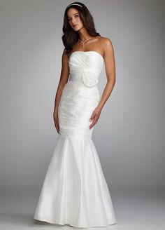 David's Bridal Wedding Dress: Taffeta Mermaid Gown with Floral Sash Style 21375: http://www.amazon.com/Davids-Bridal-Wedding-Dress-Taffeta/dp/B0051V2KXI/?tag=wwwcert4uinfo-20