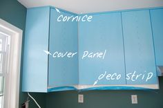 cornice & deco strip installation on ikea kitchen cabinets