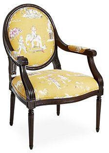 Dash Armchair, Yellow/Multi
