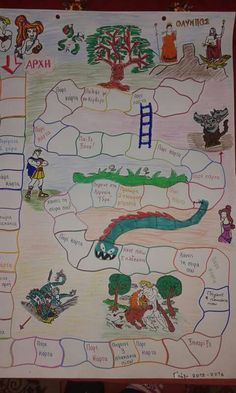 Οι αθλοι του Ηρακλή Book Report Projects, Book Projects, Stem Projects, School Projects, Homemade Board Games, Board Game Template, Greek History, Board Games For Kids, Project Based Learning