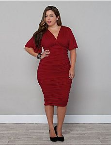 22ac4855914e Rumor Ruched Dress by Kiyonna Plus Size Fashion