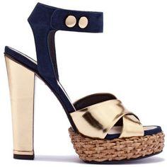 Vionnet, golden sandal, spring/summer 2011