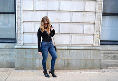 Pleasantly Petite | Fashion & Lifestyle Blog: Laced-up Bodysuit
