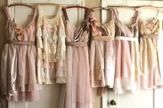 Bridesmaids. I love the idea of having different dresses within the same color pallet :)