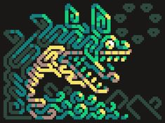 Pixel Pattern, Pattern Art, Cool Pixel Art, Cool Art, Illustrations, Illustration Art, 8 Bit Art, Pix Art, Pixel Animation